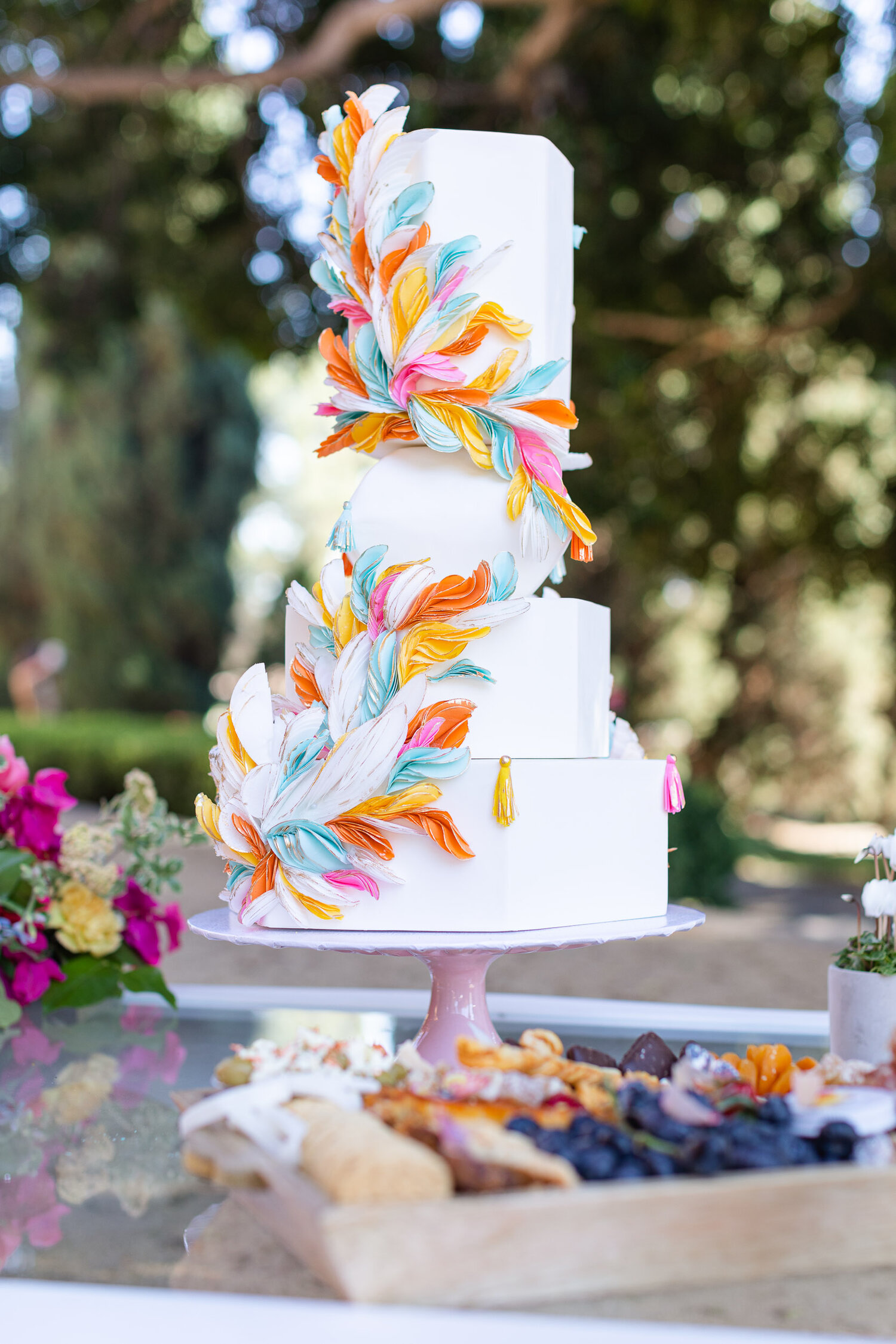 h & l lovely creations bespoke weddings southern california colourful 00003