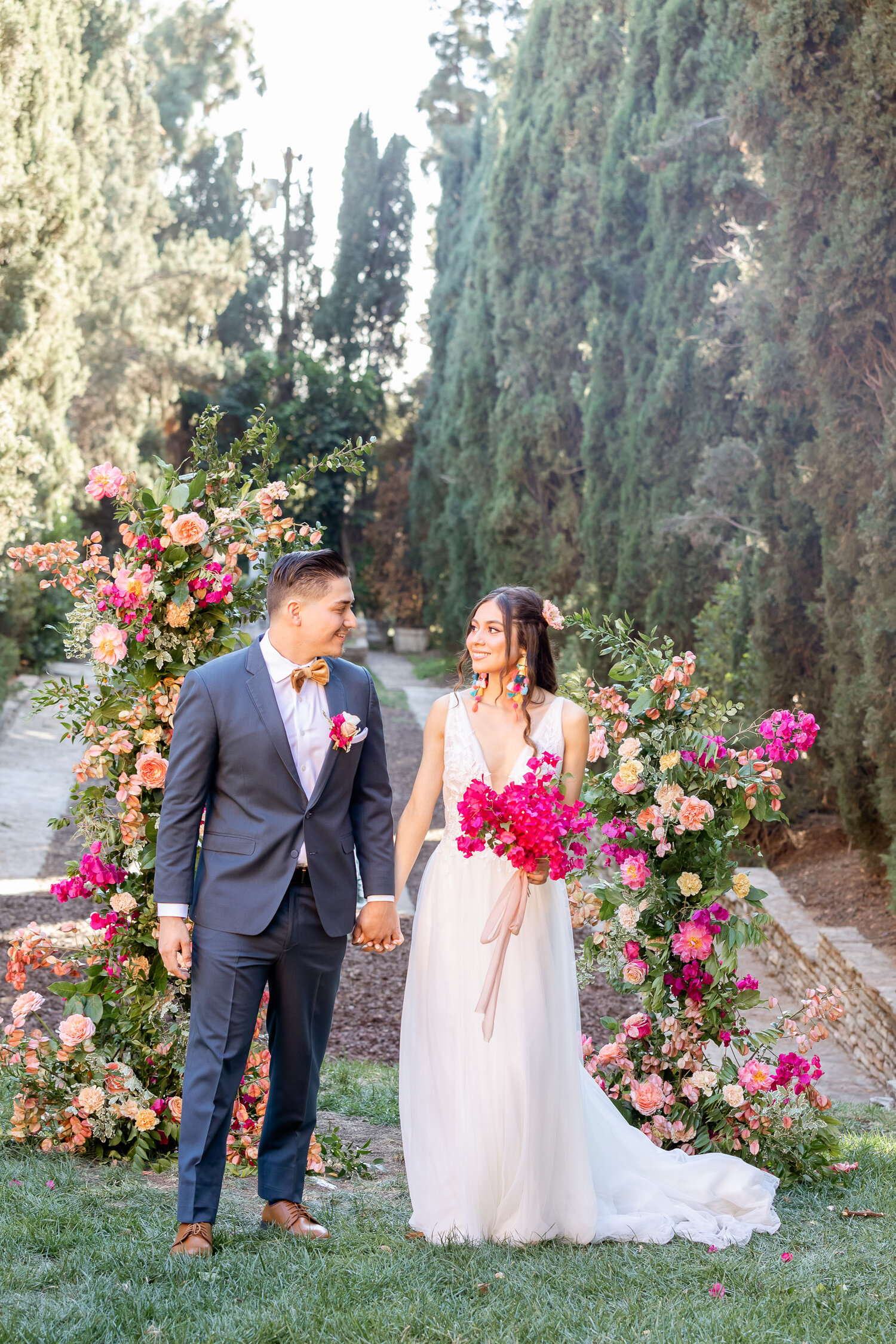 h & l lovely creations bespoke weddings southern california colourful 00006