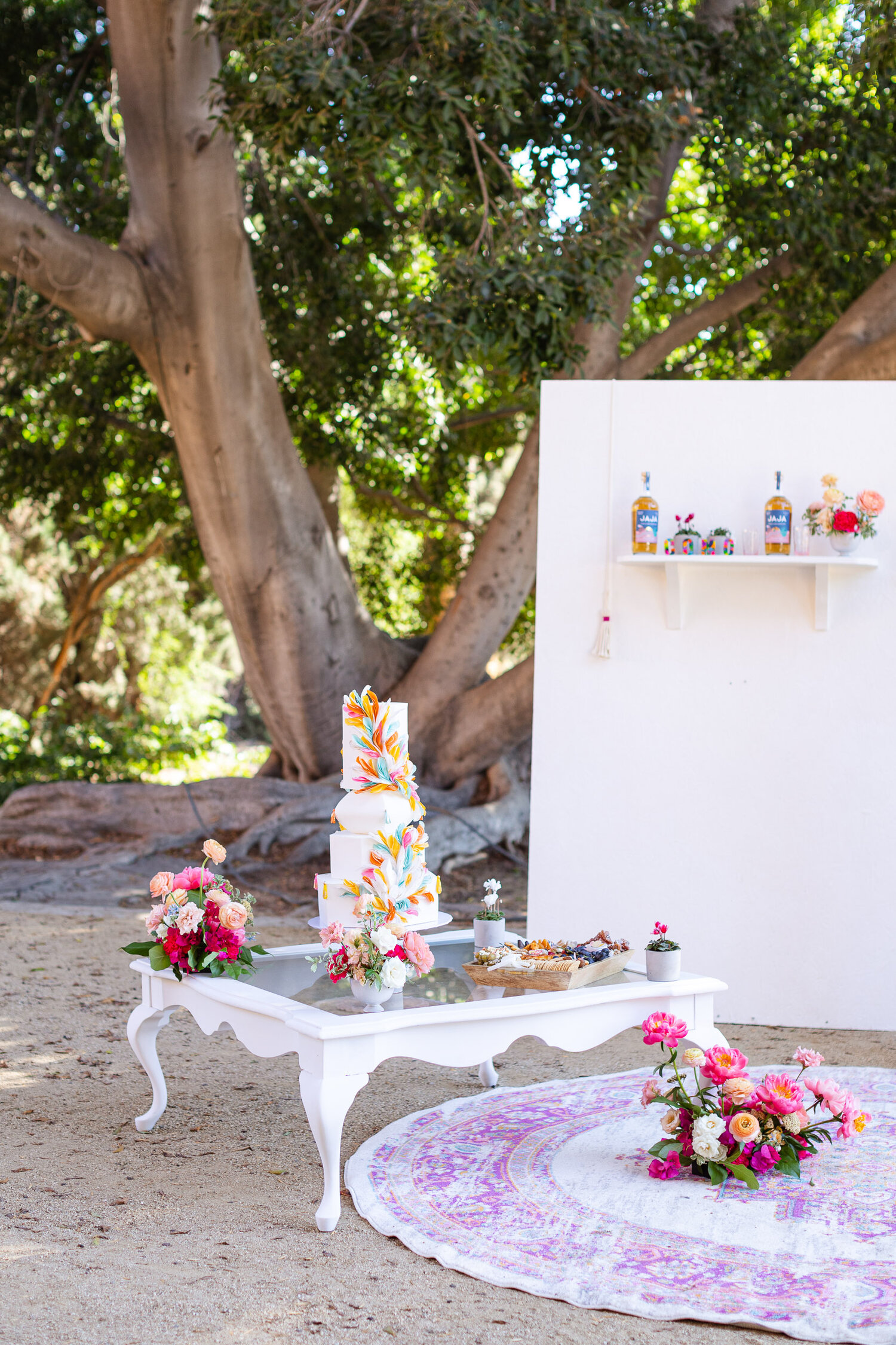 h & l lovely creations bespoke weddings southern california colourful 00007