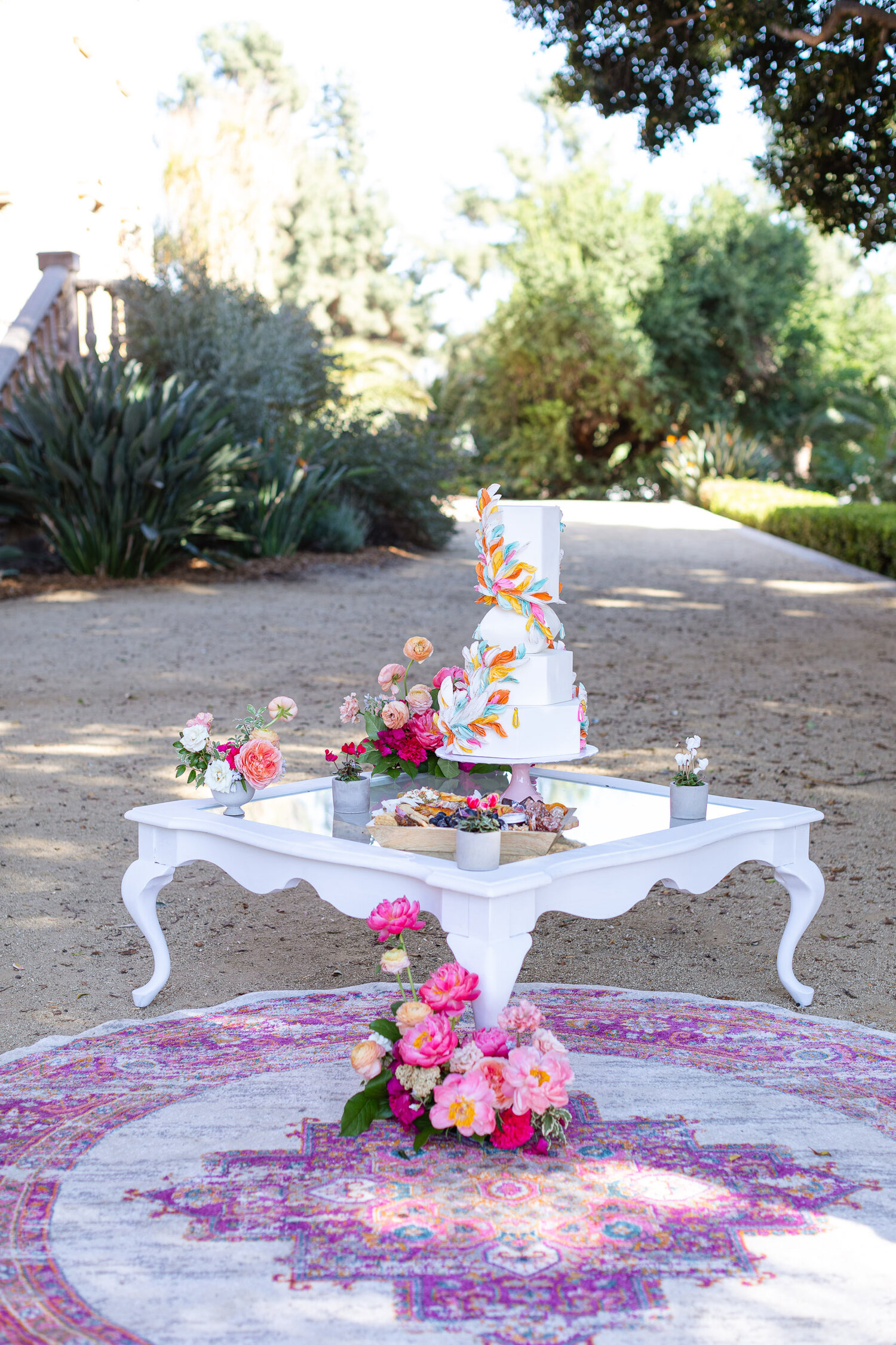 h & l lovely creations bespoke weddings southern california colourful 00008