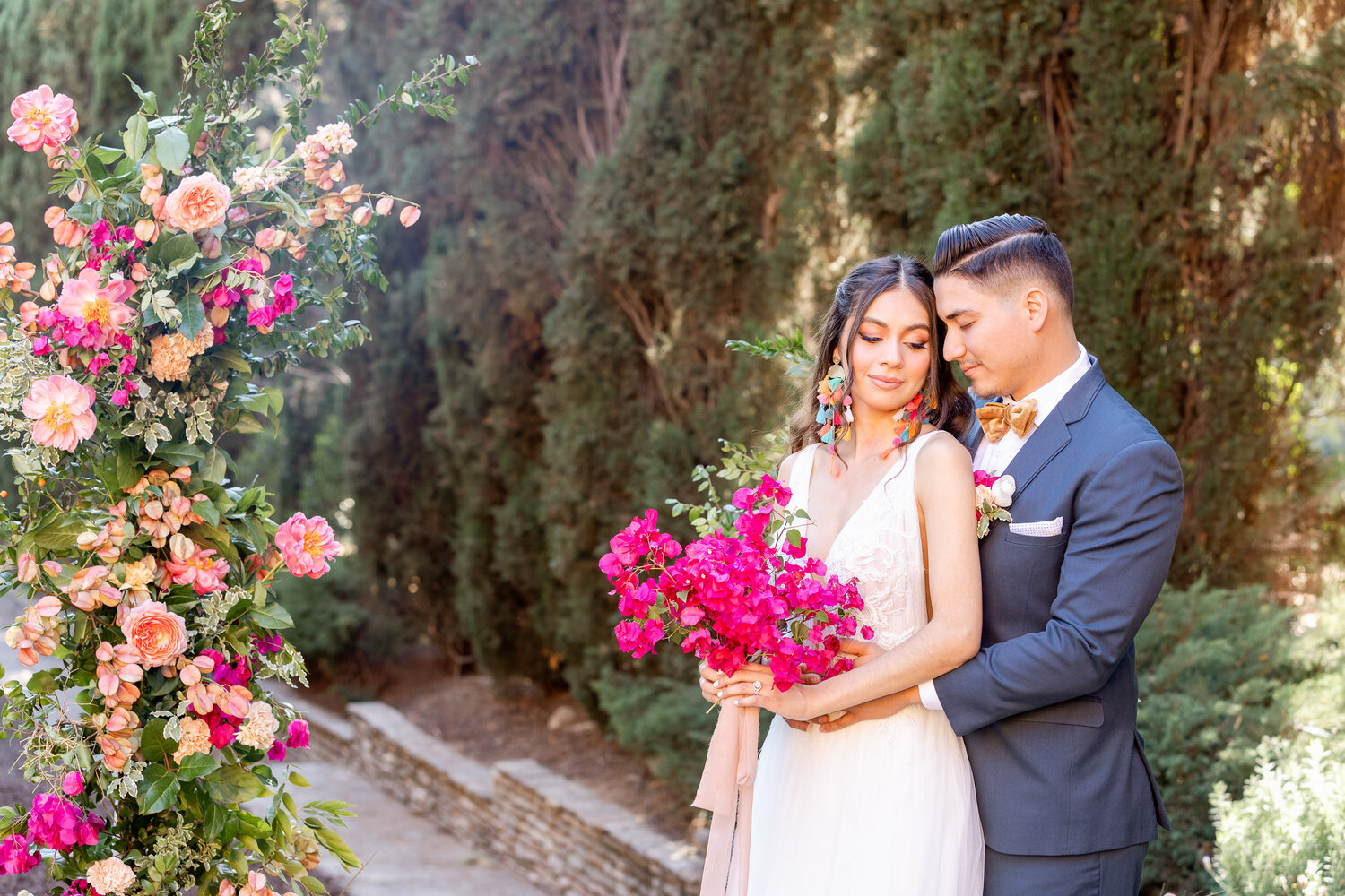 h & l lovely creations bespoke weddings southern california colourful 00012