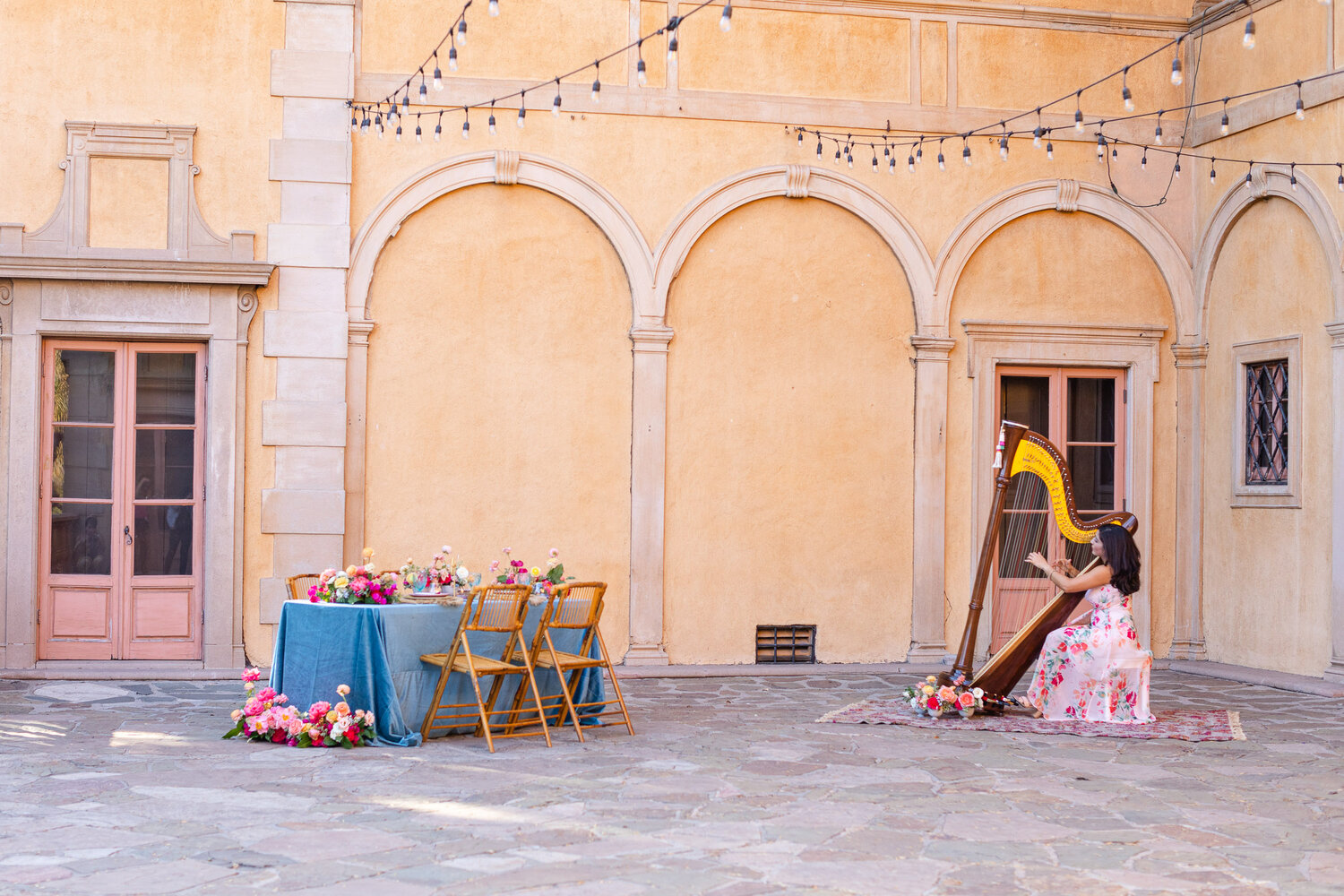 h & l lovely creations bespoke weddings southern california colourful 00025