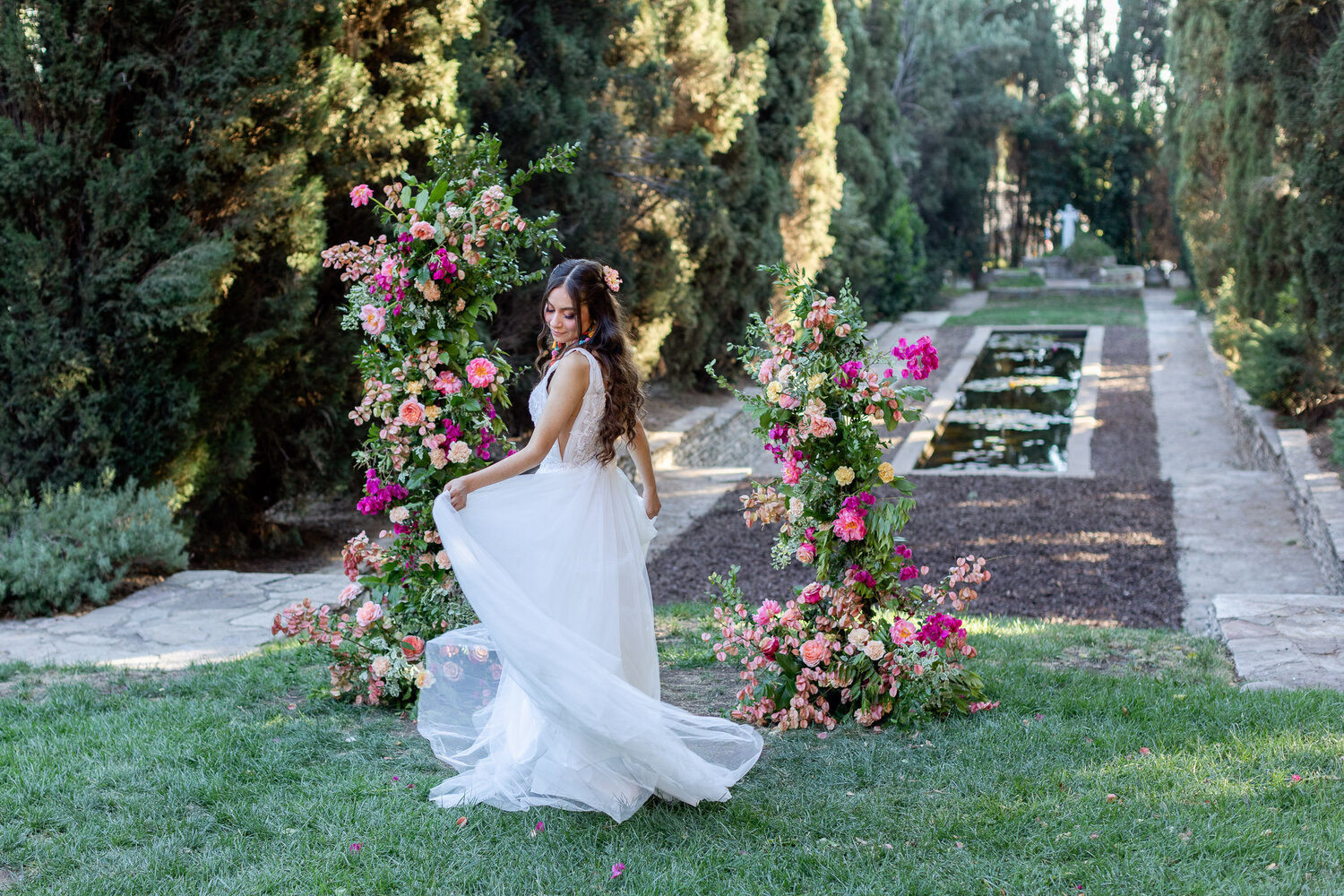h & l lovely creations bespoke weddings southern california colourful 00030