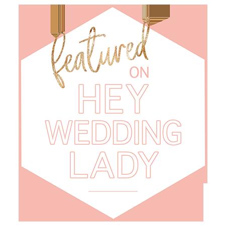 hey wedding lady featured badge